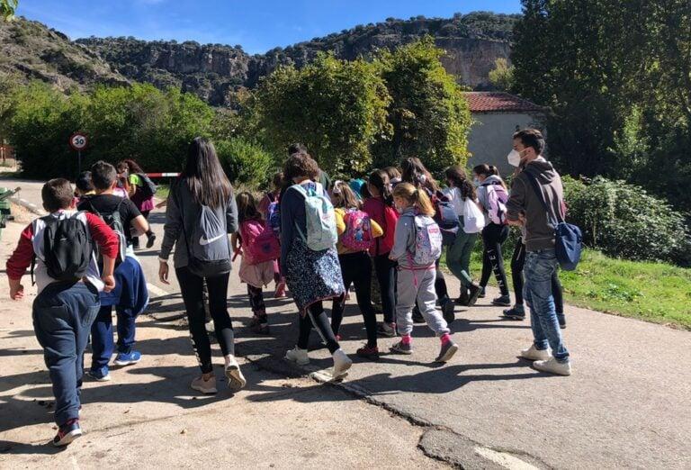Visita de escolares al Parque Natural del Rio Dulce
