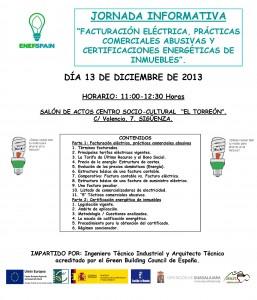 Cartel Jornada Informativa Facturación Eléctrica